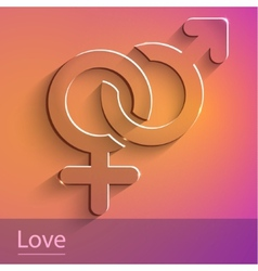 Couples female male sign glass icon vector
