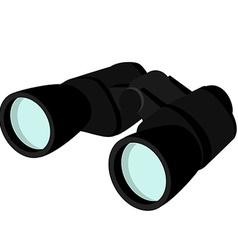 Black binocular vector