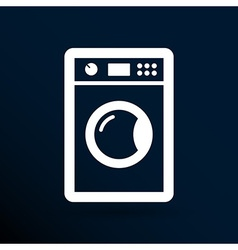 Washing machine icon laundromat clothing electric vector