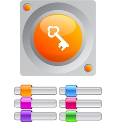 Key color round button vector