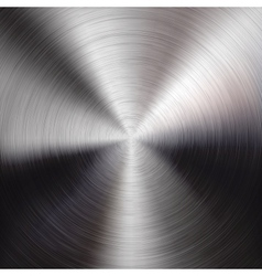 Metal background with circular brushed texture vector