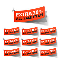 Extra sale coupons vector