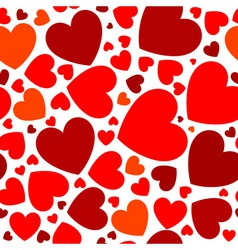 Bright red hearts vector