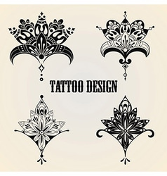 Tattoo design elements vector