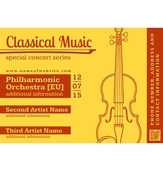 Classical music concert violin horizontal music vector
