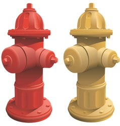 Fire hydrants vector