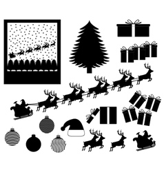 Christmas items and events vector