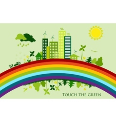 Environmental conservation cities green city vector