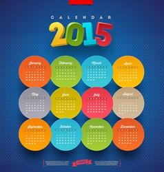 Calendar 2015 template vector