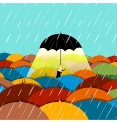 Raining season vector