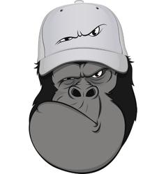 Funny monkey hat vector