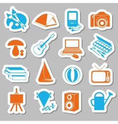 Hobby stickers vector