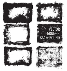 Set of grunge background vector