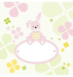 Bunny rabbit frame vector