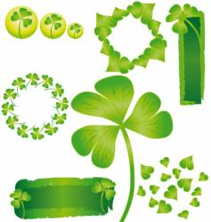 St patricks shamrock vector