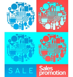 Sales promotion collage vector