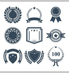Award badges icon set vector