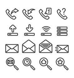 Set phone icon vector