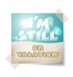 Still vacation vector
