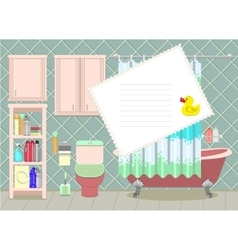 Bathroom card vector