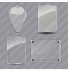 Glass frame set vector