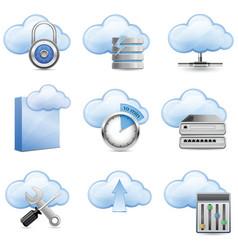 Cloud hosting vector