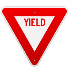 Usa yield sign vector