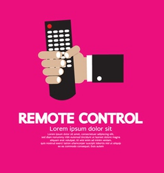 Hand holding a remote control vector