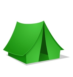 Green camping tent vector