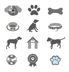Pet icon set vector