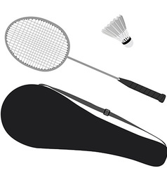 Badminton set vector
