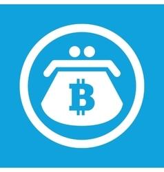 Bitcoin purse sign icon vector