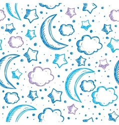 Pattern with night sky vector