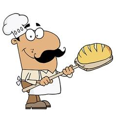Cartoon baker vector