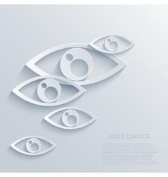 Modern eyes background eps 10 vector