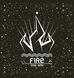 Campfire emblem vector