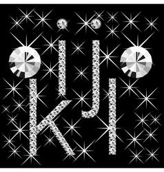 Diamond letters vector