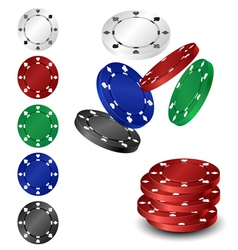 Poker chip set vector