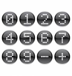 Matrix digits icons vector
