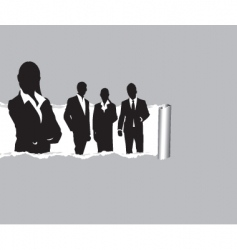 Ripped paper people vector