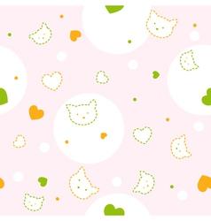 Baby kitty pattern vector