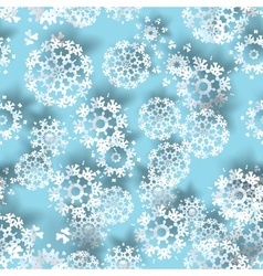 Blue with paper christmas snowflakes vector