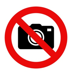 Cameras prohibited sign vector