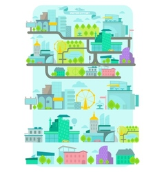 Modern city set vector