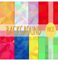 Set of polygonal backgrounds 8 various vector