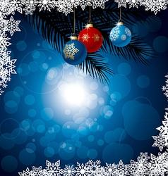 Winter background vector