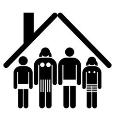 Family and home concept vector