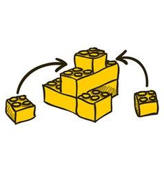 Construction blocks vector