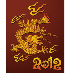 Dragon symbol of the year vector