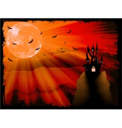 Halloween poster with zombie background eps 10 vector